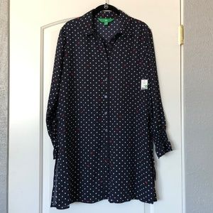 NWT Navy Polka Dot & Lips Tunic